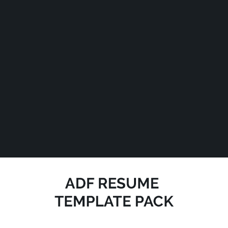 adf resume template pack pinstripe solutions