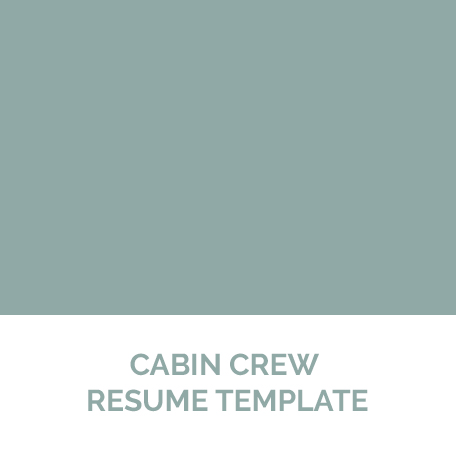 Cabin Crew Resume Template (Product Download U2013 7 Day Expiry) | Pinstripe  Solutions